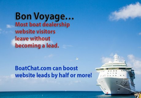 Most boat dealership website visitors leave without becoming a lead. BoatChat can boost website leads by half or more.