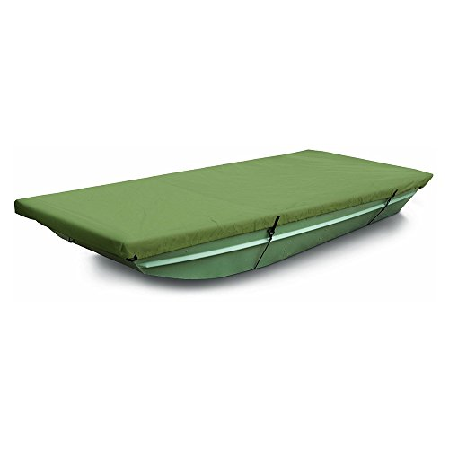 MSC® 100% Polyester Jon Boat Cover, Color Olive, Water repellent, UV resistant Jon Boat Cover, Easy fit and installation