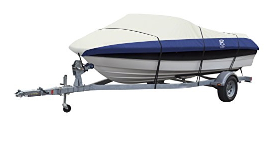 Classic Accessories Lunex RS-2 Heavy-Duty Boat Cover With Support Pole For V-Hull Runabouts