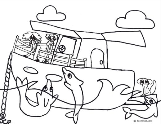 Dolphin Swim drawing