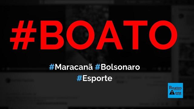 Bolsonaro é carregado por multidão na saída do Maracanã em 2019, diz boato (Foto: Reprodução/Facebook)