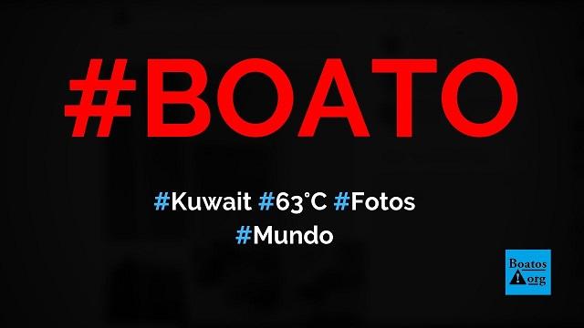 Calor de 63°C no Kuwait fez semáforo, carro e chinelo derreterem,diz boato (Foto: Reprodução/Facebook)