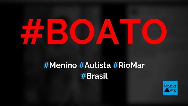 Menino autista está perdido no shopping RioMar e procura família, diz boato (Foto: Reprodução/Facebook)