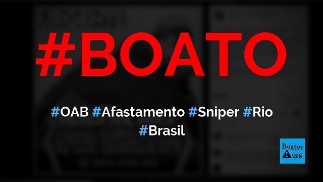 OAB pede afastamento de sniper que atirou em sequestrador no Rio, diz boato (Foto: Reprodução/Facebook)