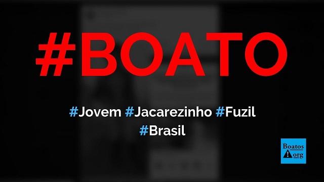 Jovem morto pela polícia no Jacarezinho posou para foto com fuzil, diz boato (Foto: Reprodução/Facebook)