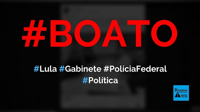 Lula tem um gabinete dentro da PF em Curitiba para despachar, diz boato (Foto: Reprodução/Facebook)