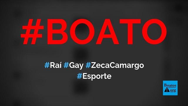 Raí assume que é gay e vai morar com Zeca Camargo, diz boato (Foto: Reprodução/Facebook)