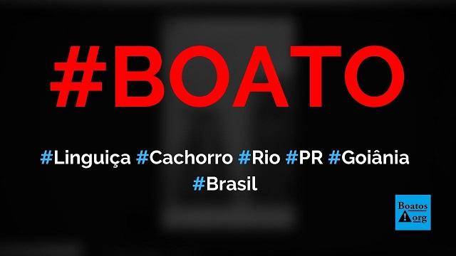Família foi presa por vender linguiça de cachorro no Rio de Janeiro, Mandirituba (PR), Goiânia e outras cidades do Brasil, diz boato (Foto: Reprodução/Facebook)