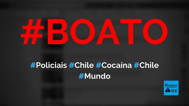 Policiais do Chile são flagrados cheirando cocaína antes de manifestação, diz boato (Foto: Reprodução/Facebook)