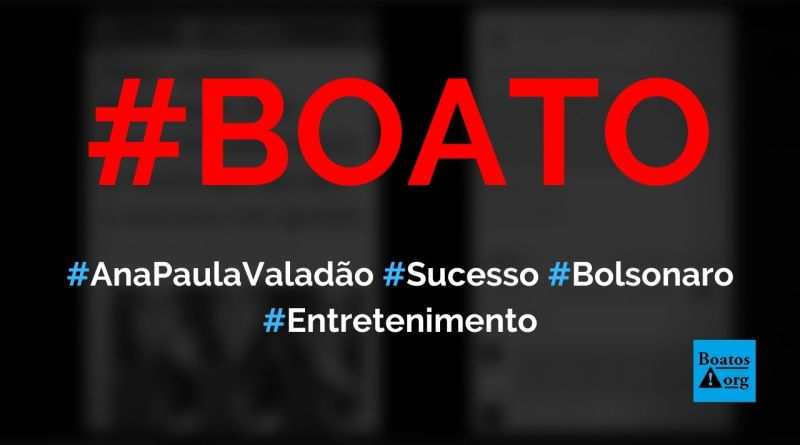Ana Paula Valadão diz que perdeu o sucesso após apoiar Bolsonaro, diz boato (Foto: Reprodução/Facebook)