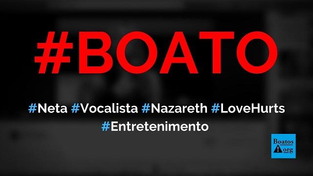 Neta de vocalista do Narazeth (Dan McCafferty) canta Love Hurts em homenagem ao avô, diz boato (Foto: Reprodução/Facebook)