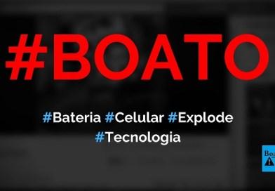 Bateria de celular explodiu e pôs fogo em casa, diz boato (Foto: Reprodução/Facebook)