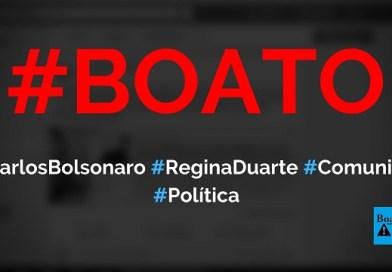Carlos Bolsonaro chamou Regina Duarte de comunista e desaprovou decisão de Bolsonaro, diz boato (Foto: Reprodução/Facebook)