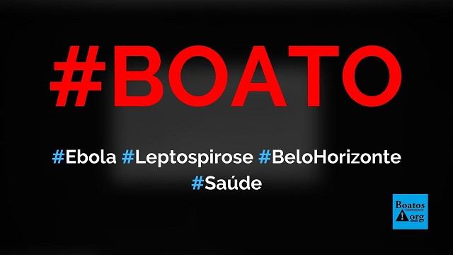 Vírus ebola e surto de leptospirose atingem Belo Horizonte e Minas Gerais, diz boato (Foto: Reprodução/Facebook)