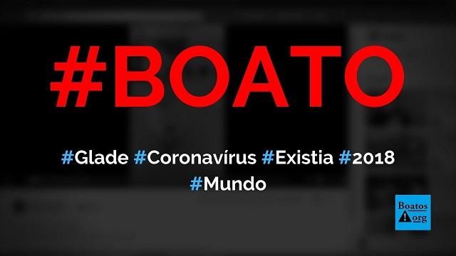 Embalagem de Glade prova que novo coronavírus já existia em 2018, diz boato (Foto: Reprodução/Facebook)