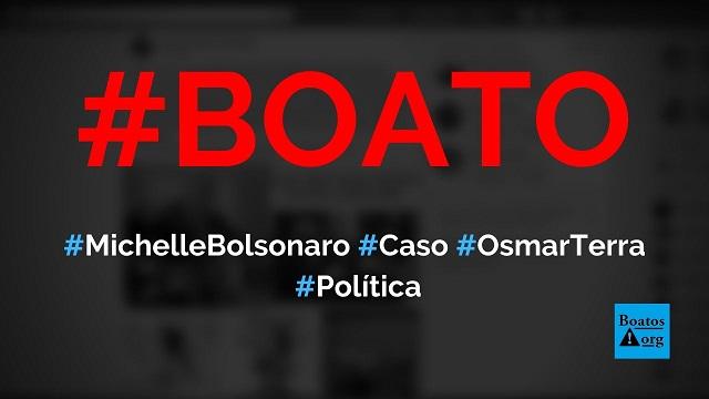 Michelle Bolsonaro tem um caso com Osmar Terra e está traindo Bolsonaro, diz boato (Foto: Reprodução/Facebook)