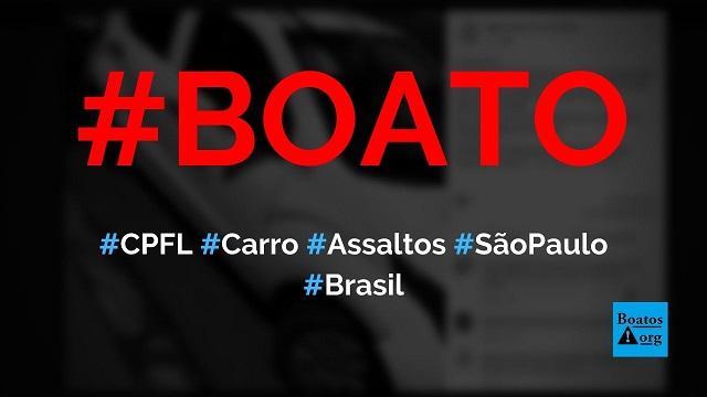 Bandidos usam carro da CPFL para realizar assaltos em cidades de São Paulo, diz boato (Foto: Reprodução/Facebook)