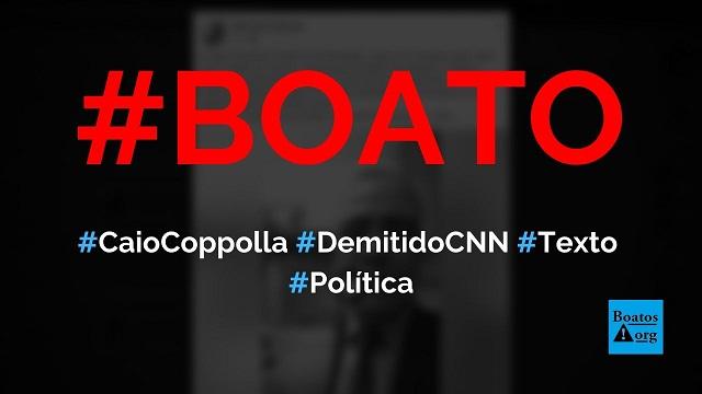 """Caio Coppolla é demitido da CNN e escreve texto sobre """"momento que vivemos"""", diz boato (Foto: Reprodução/Facebook)"""