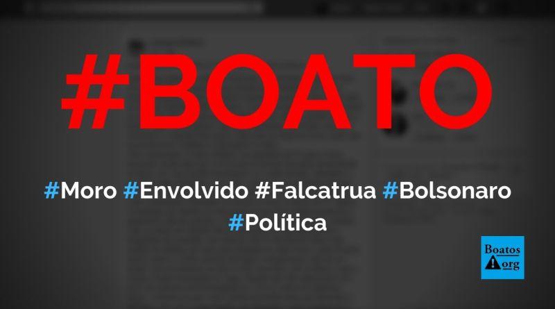 Moro está envolvido até o pescoço dele em falcatrua de venda de inquérito da PF, diz boato (Foto: Reprodução/Facebook)