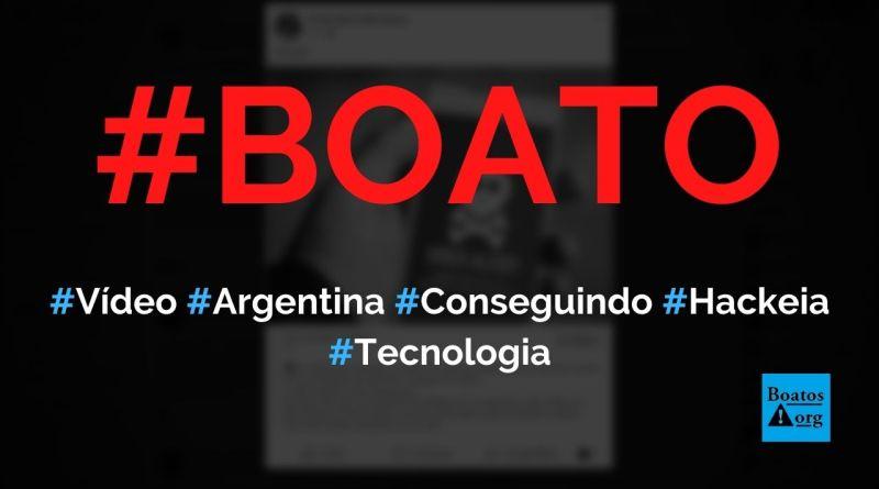 """""""Argentina está conseguindo"""" é um vídeo sobre a Covid-19 que hackeará o seu telefone, diz boato (Foto: Reprodução/Facebook)"""