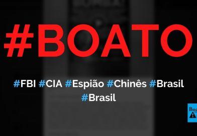 FBI e CIA descobrem que professor é espião do governo chinês no Brasil, diz boato (Foto: Reprodução/Facebook)