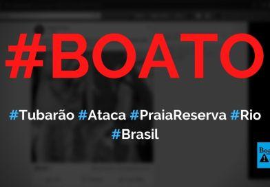 Tubarão apareceu na Praia da Reserva (Rio de Janeiro) e atacou homem ontem, mostram fotos, diz boato (Foto: Reprodução/Facebook)