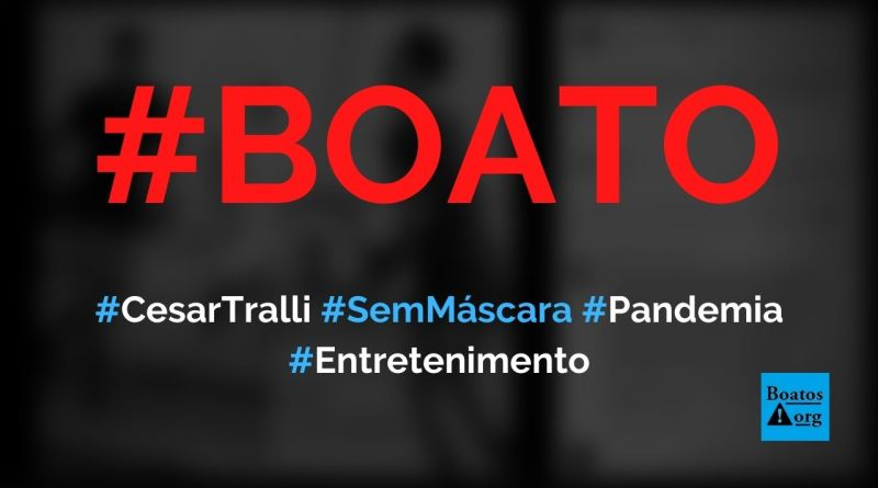 Cesar Tralli é flagrado sem máscara andando de patins durante a pandemia, diz boato (Foto: Reprodução/Facebook)