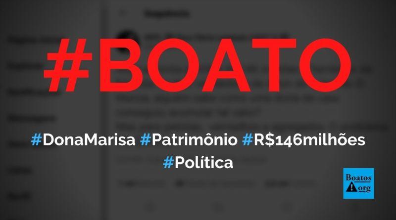 Justiça autorizou partida de R$ 146 milhões de dona Marisa Letícia aos herdeiros, diz boato (Foto: Reprodução/Facebook)