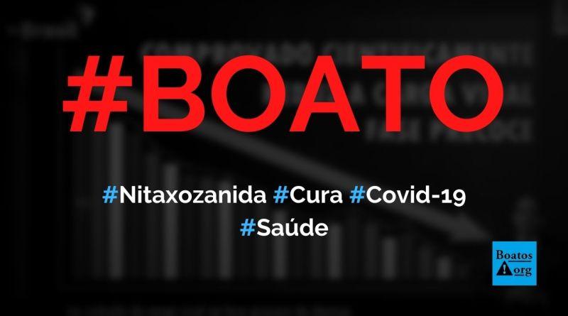Estudo aponta que a nitazoxanida é a cura para a Covid-19, diz boato (Foto: Reprodução/Facebook)