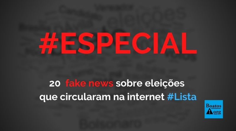 20 fake news sobre as eleições de 2020 que viralizaram na web