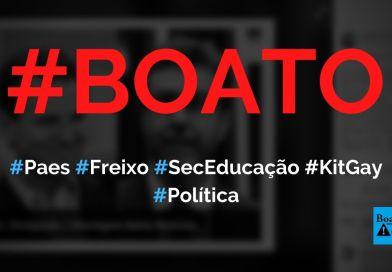 Paes vai colocar Freixo na Secretaria de Educação para implantar banheiro unissex nas escolas, diz boato (Foto: Reprodução/Facebook)