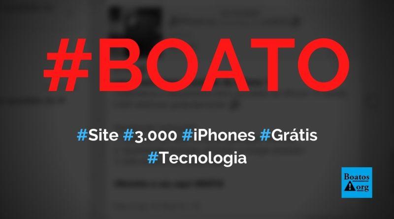 Site dá 3.000 iPhone 12 grátis por causa de lançamento do telefone, diz boato (Foto: Reprodução/WhatsApp)