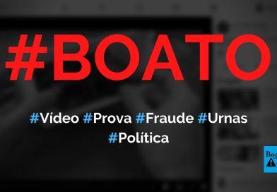 Vídeo prova que sistema da urna eletrônica pode ser fraudado, diz boato (Foto: Reprodução/Facebook)