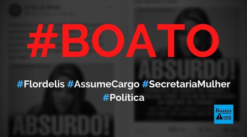 Flordelis assume cargo na Secretaria da Mulher da Câmara, diz boato (Foto: Reprodução/Facebook)