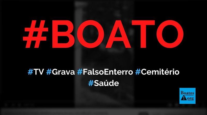 Vídeo gravado no cemitério de Barra do Jucu mostra fraude da pandemia, diz boato (Foto: Reprodução/YouTube)