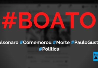 Bolsonaro comemorou morte de Paulo Gustavo com foto de santa, diz boato (Foto: Reprodução/Facebook)
