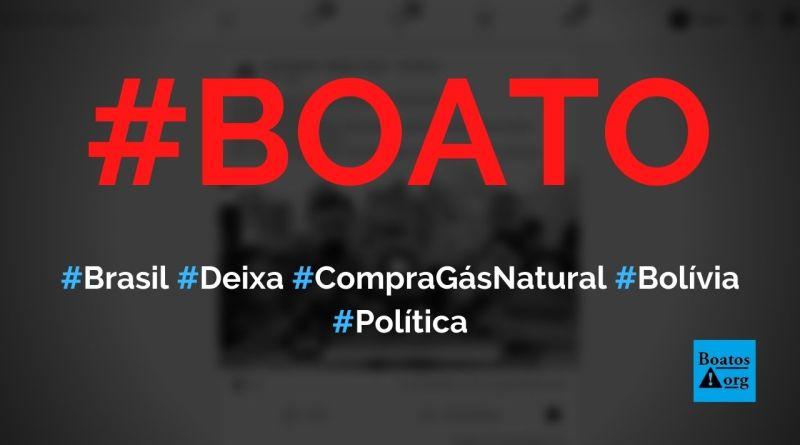 Brasil deixou de comprar gás natural da Bolívia e Venezuela, diz boato (Foto: Reprodução/Facebook)