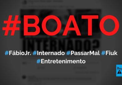 Fábio Jr. é internado após passar mal e não tem previsão de alta, diz boato (Foto: Reprodução/Facebook)