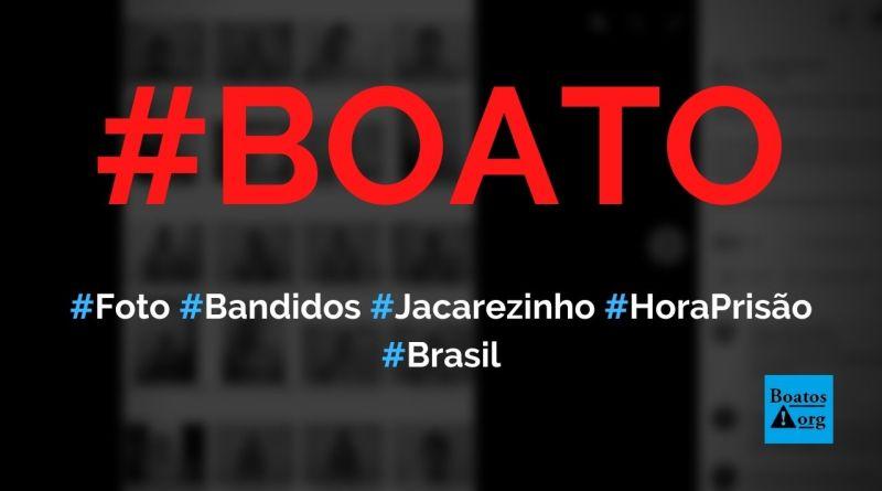 Foto mostra 20 bandidos mortos no Jacarezinho na hora da prisão, diz boato (Foto: Reprodução/Facebook)