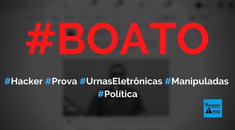 Hacker prova que urnas eletrônicas podem ser facilmente manipuladas, diz boato (Foto: Reprodução/Facebook)