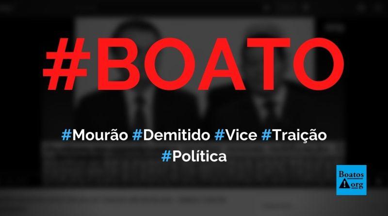 Mourão é demitido após prova de traição contra Bolsonaro ser revelada, diz boato (Foto: Reprodução/YouTube)