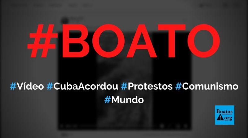 """Vídeo """"Cuba acordou"""" mostra protestos contra o comunismo em Cuba, diz boato (Foto: Reprodução/Facebook)"""