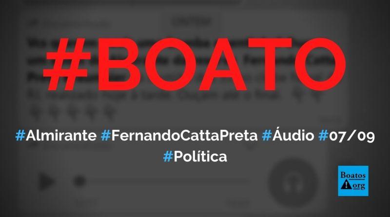 Almirante Fernando Catta Preta grava áudio sobre intervenção militar no Clube Naval, diz boato (Foto: Reprodução/Facebook)