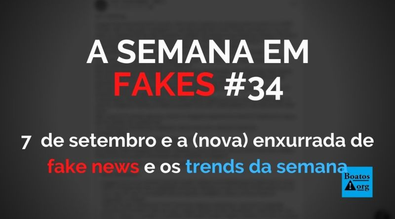 As fake news sobre 7 de setembro tão aí, cai quem quer (Foto: Reprodução/Facebook)