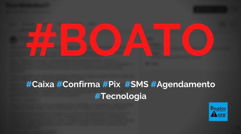 Caixa confirma agendamento de Pix por SMS e pede cadastro em site, diz boato (Foto: Reprodução/Facebook)
