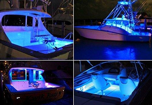 4X Ultra White LED Boat Light Deck Courtesy Bow Trailer Pontoon 12V Waterproof