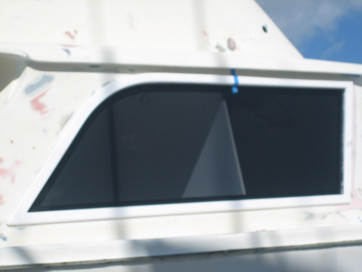 Bertram 31 side boat window