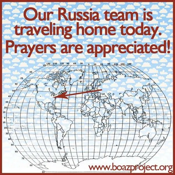 russia team traveling home