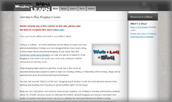 Screenshot of the Learning to Blog, Blogging to Learn website