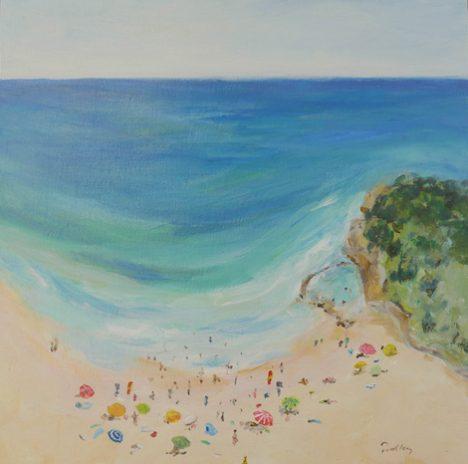 avoca summer study, artist robyn pedley, original art, bobbie p gallery